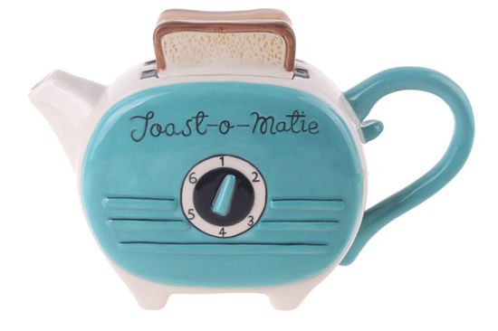Green Toast Teapot by Blue Sky Clayworks