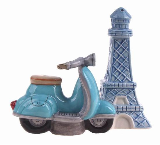 Retro Paris Salt & Pepper Set by Blue Sky Clayworks