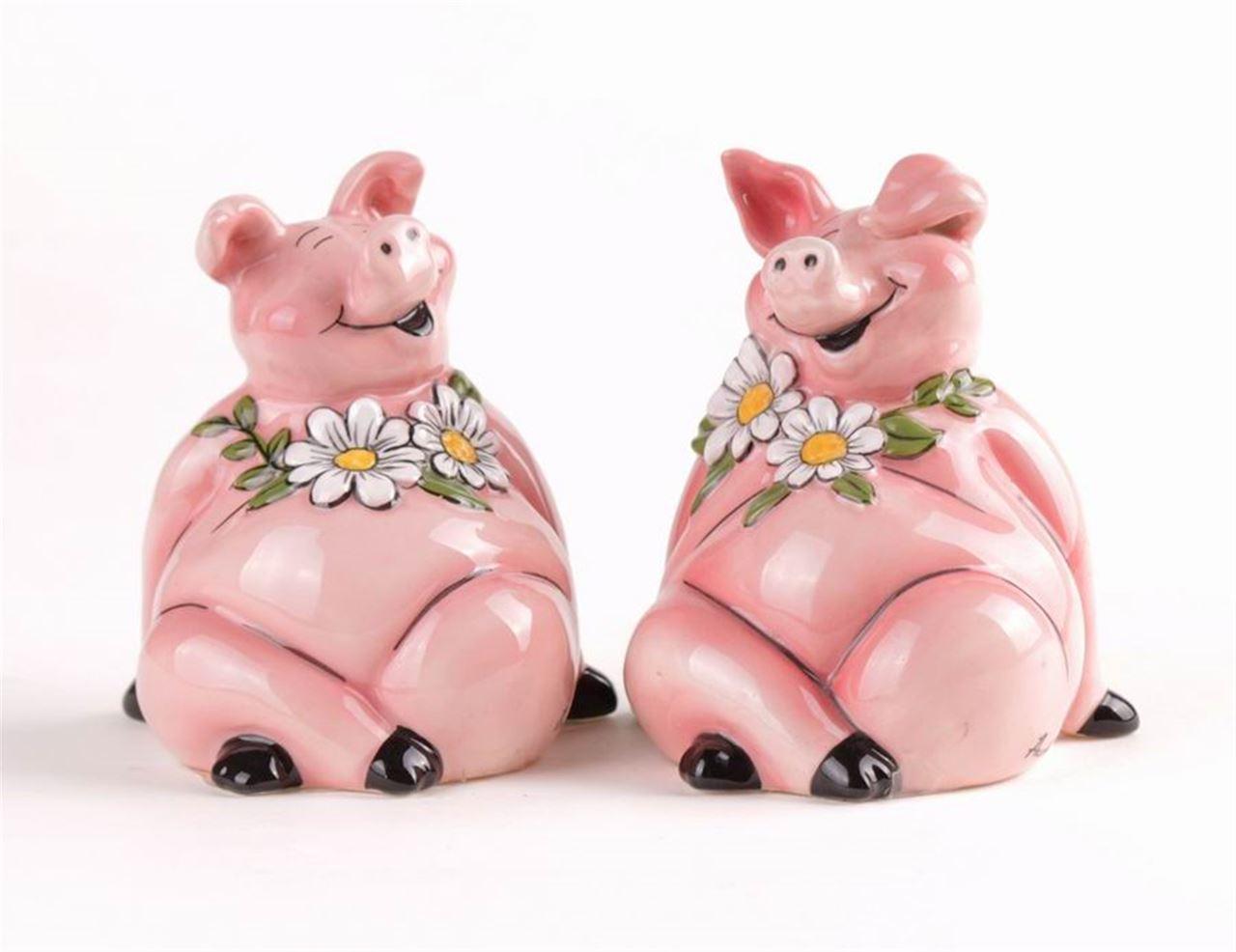 Piggy Salt & Pepper Set by Blue Sky Clayworks