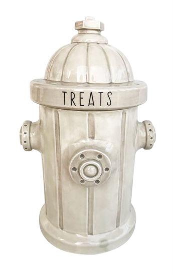 White Fire Hydrant Treat Jar by Blue Sky Clayworks