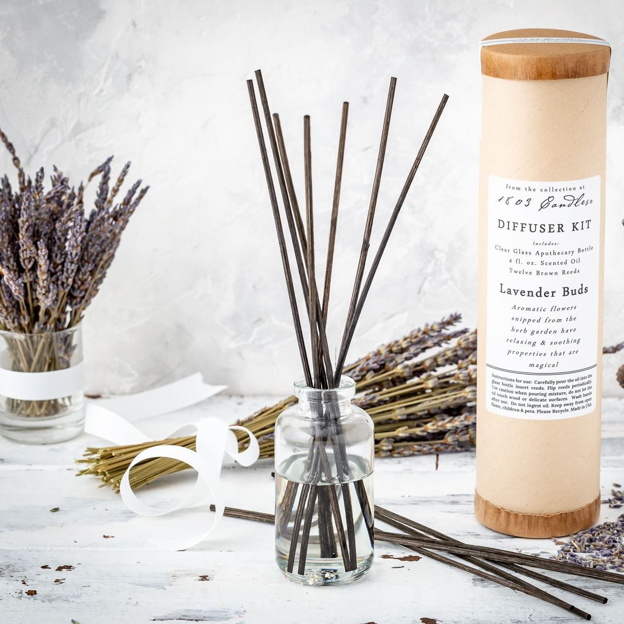 Lavender Buds Diffuser Kit  by 1803 Candles