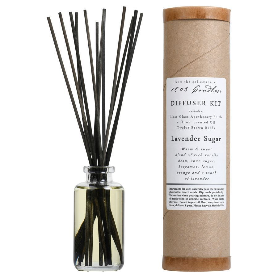Lavender Sugar Diffuser Kit  by 1803 Candles
