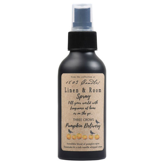 Three Crows Pumpkin Delivery Linen & Room Spray by 1803 Candles