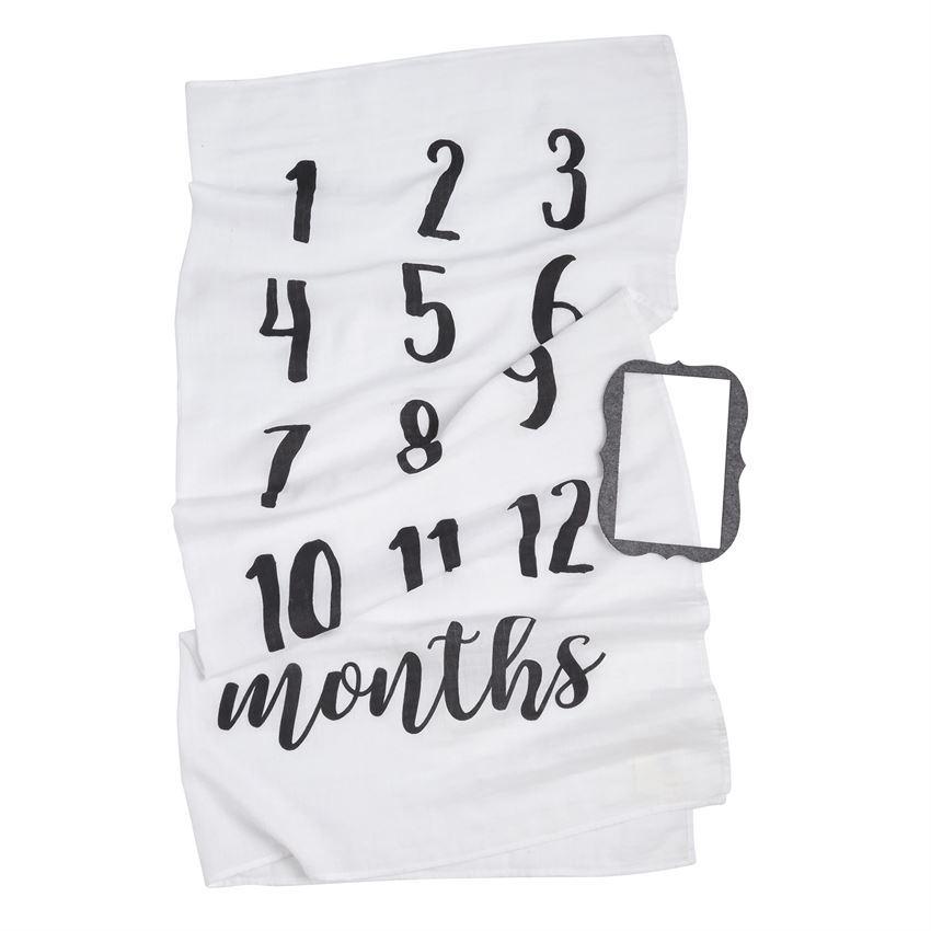 Monthly Milestone Blanket Set by Mudpie