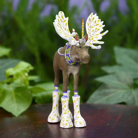 Milton Moose Ornament by Patience Brewster