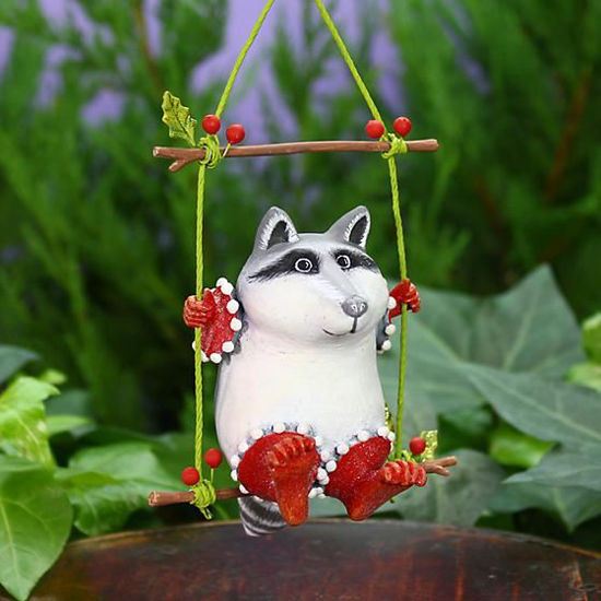 Huck Raccoon Ornament by Patience Brewster