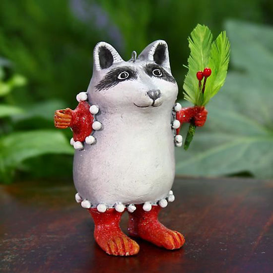 Huck Raccoon Mini Ornament by Patience Brewster