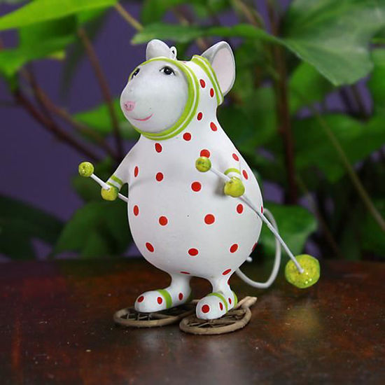 Pip Snowshoe Mouse Ornament by Patience Brewster