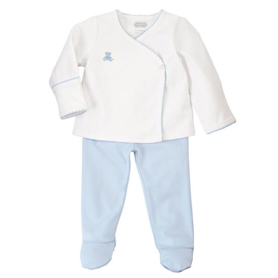 Blue Bear 2-Piece Set (0-3M) by Mudpie