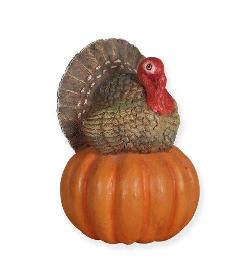Turkey on Pumpkin by Bethany Lowe Designs