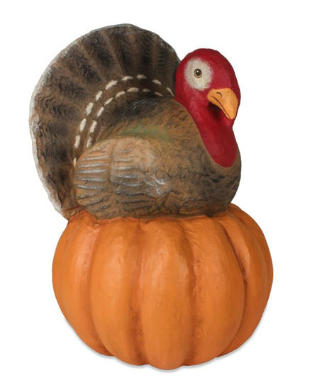 Turkey on Pumpkin Large by Bethany Lowe Designs
