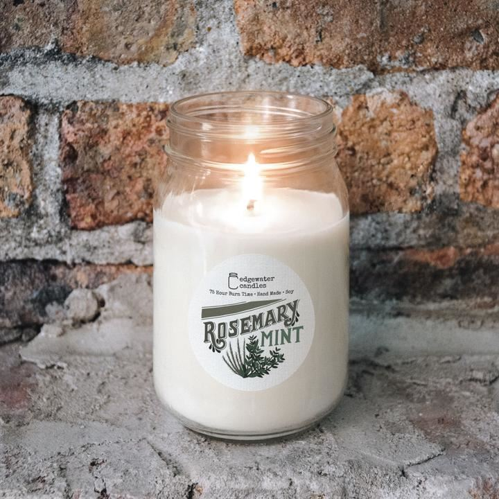 Rosemary Mint Jar by Edgewater Candles