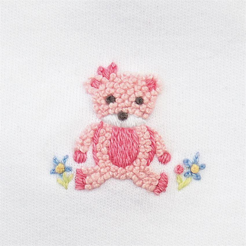 Pink Bear Bib by Mudpie