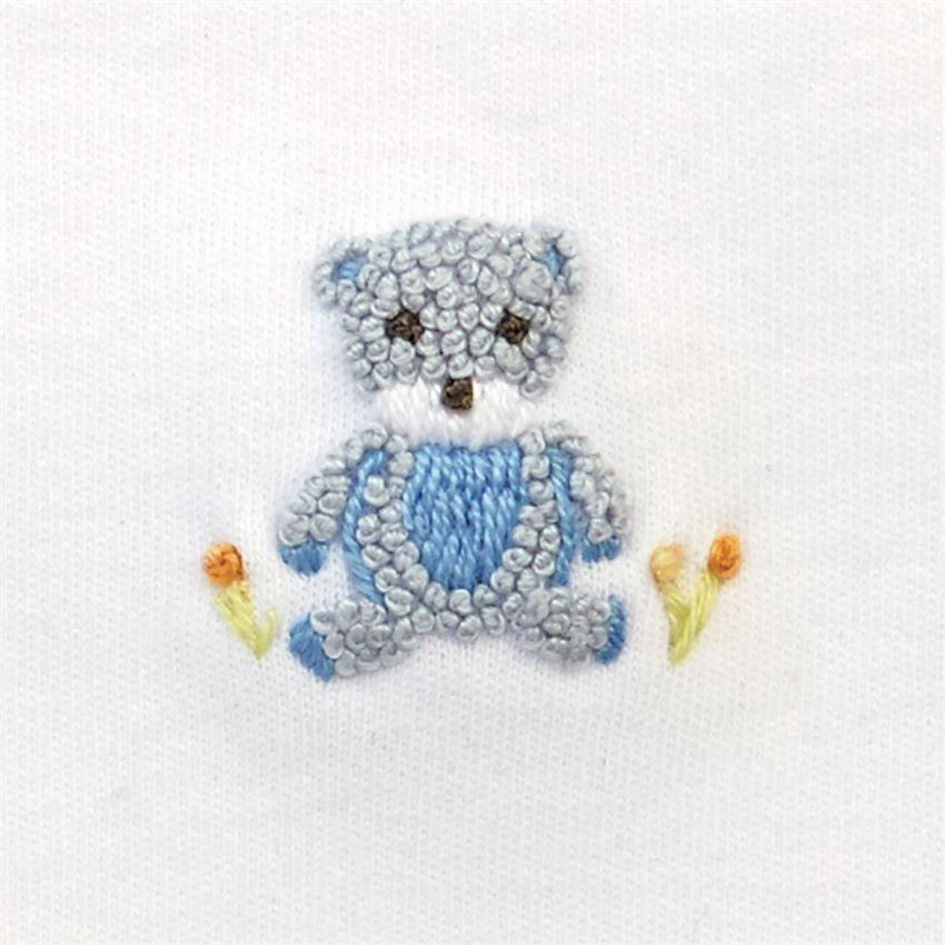 Blue Bear Bib by Mudpie