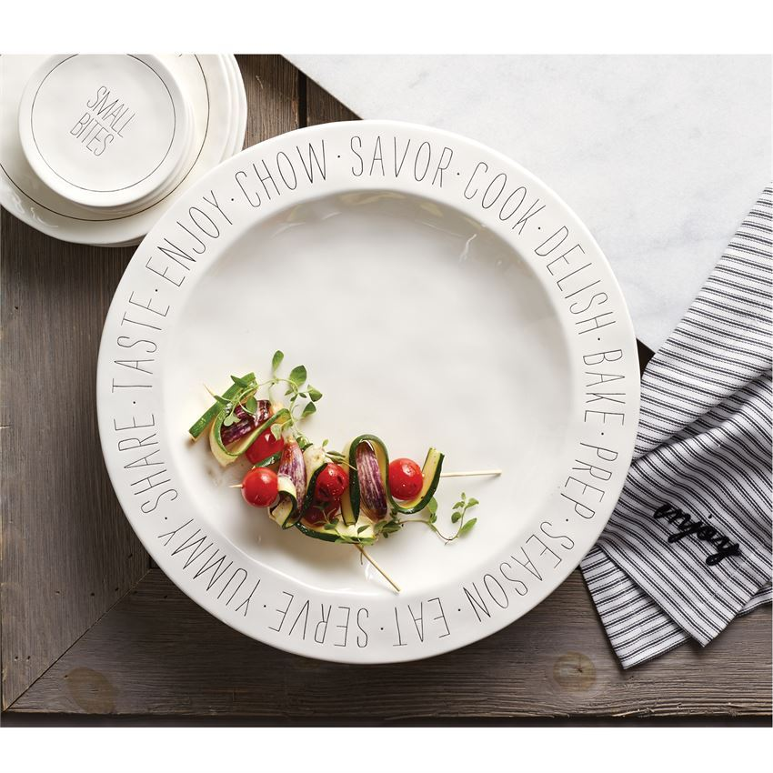 Bistro Sentiment Large Platter by Mudpie