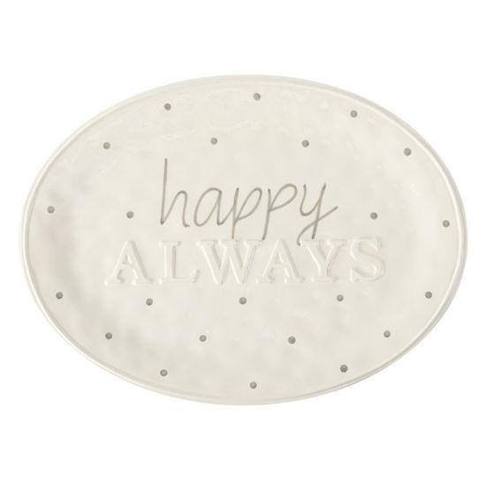 Happy Always Platter by Mudpie