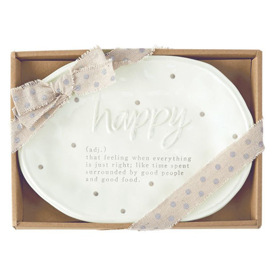 Happy Definition Plate by Mudpie
