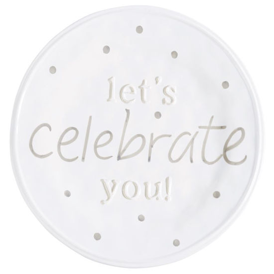 Let's Celebrate You Plate by Mudpie
