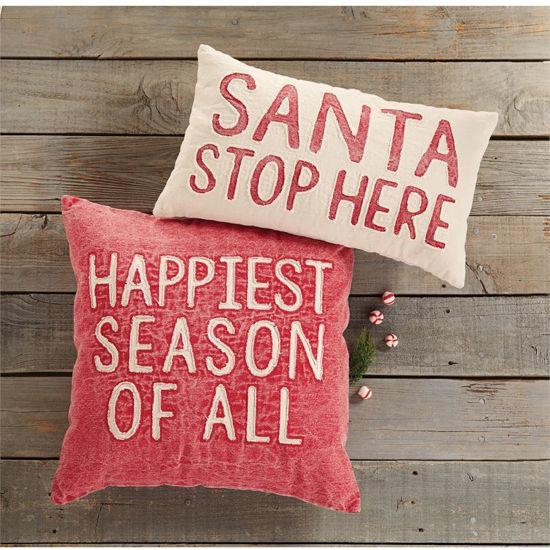 Christmas Washed Pillows by Mudpie