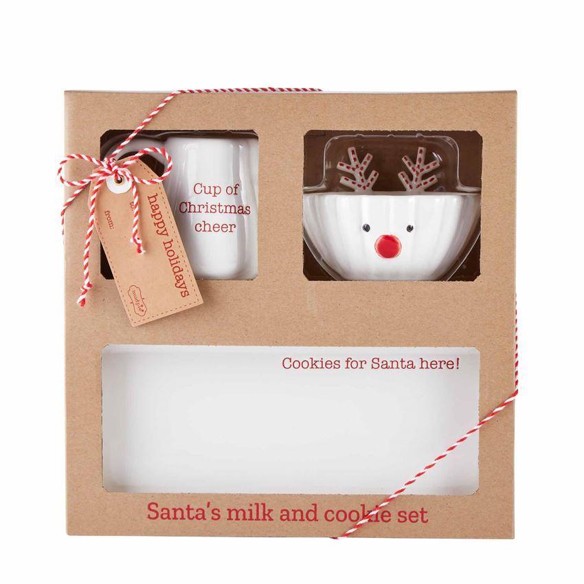 Santa's Milk & Cookie Set by Mudpie