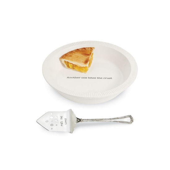 Circa Pie Plate with Server by Mudpie