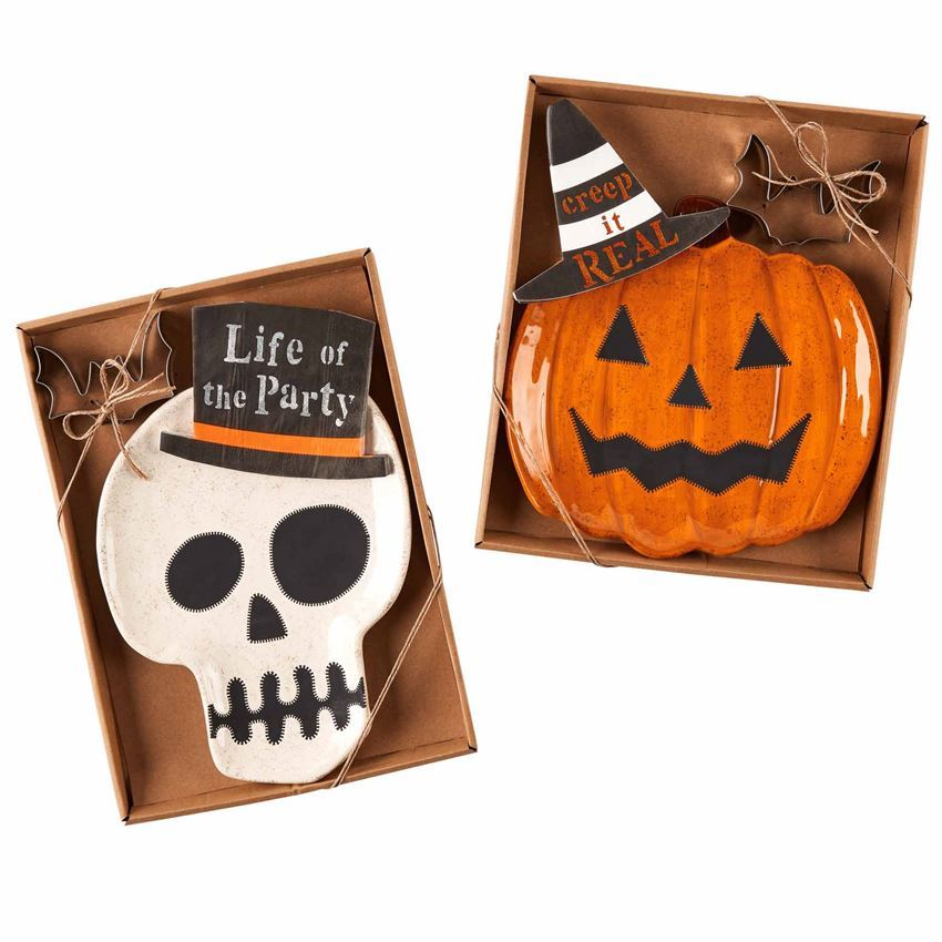 Halloween Cookie Plate Sets (Assorted) by Mudpie