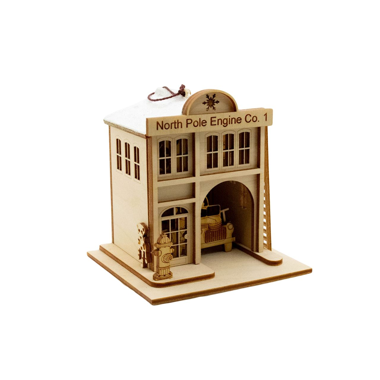 Firehouse Ornament by Ginger Cottages