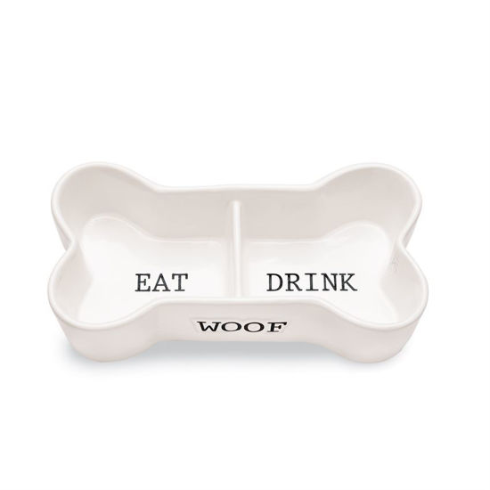Eat & Drink Bone Pet Bowl by Mudpie
