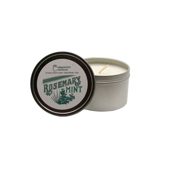 Rosemary Mint Travel Tin by Edgewater Candles