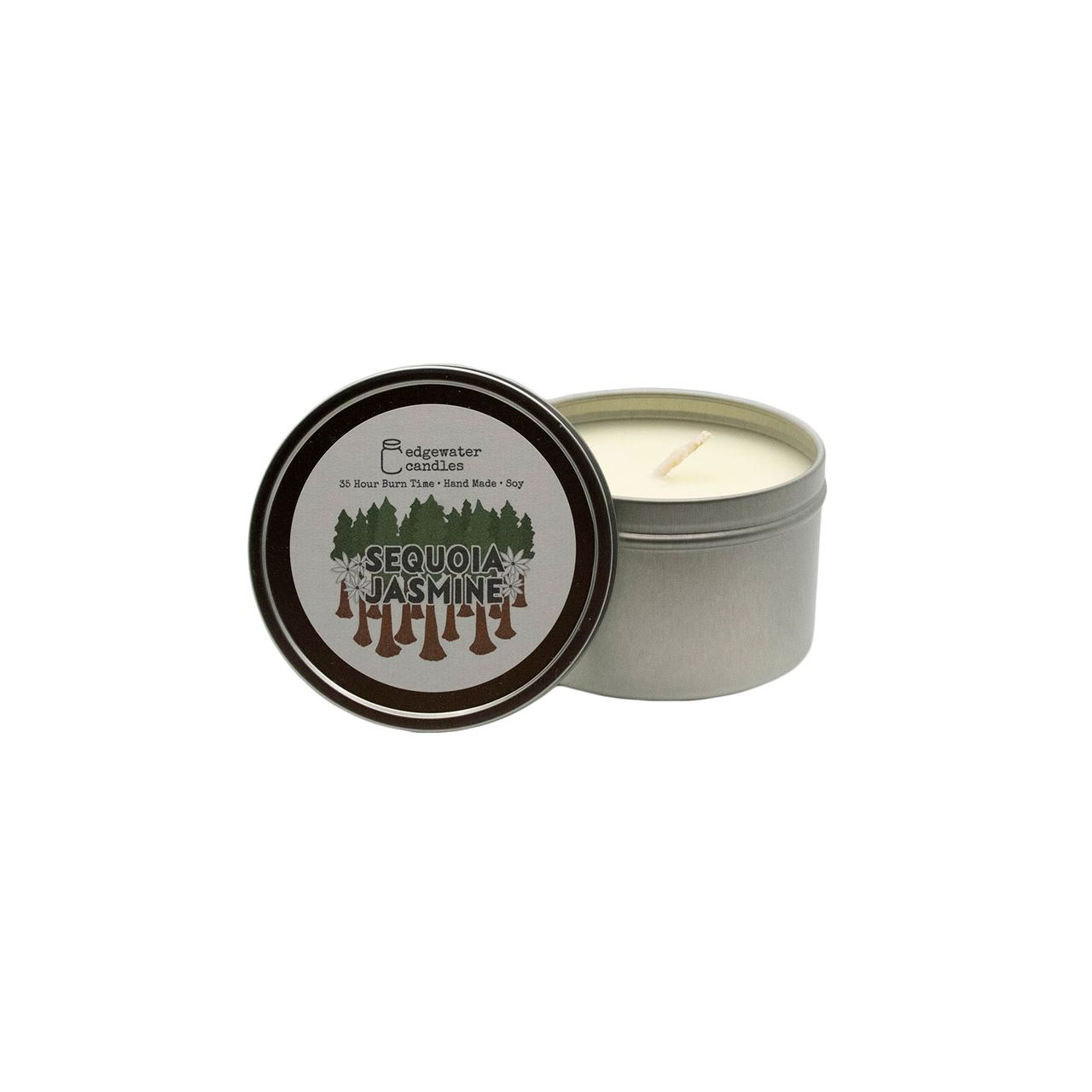 Sequoia Jasmine Travel Tin by Edgewater Candles
