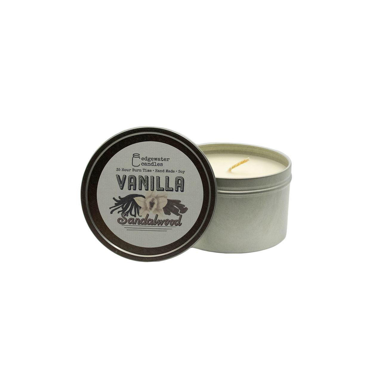 Vanilla Sandalwood Travel Tin by Edgewater Candles