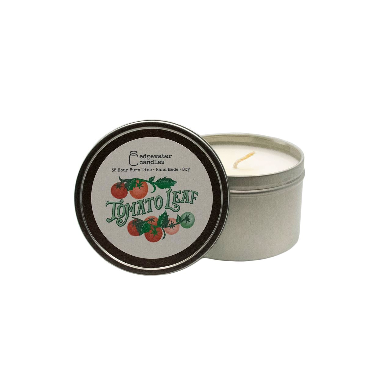 Tomato Leaf Travel Tin by Edgewater Candles