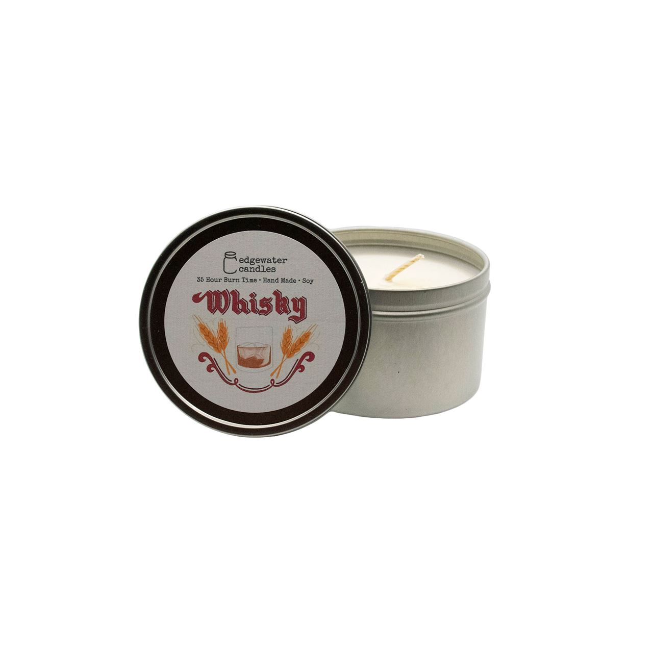 Whisky Travel Tin by Edgewater Candles