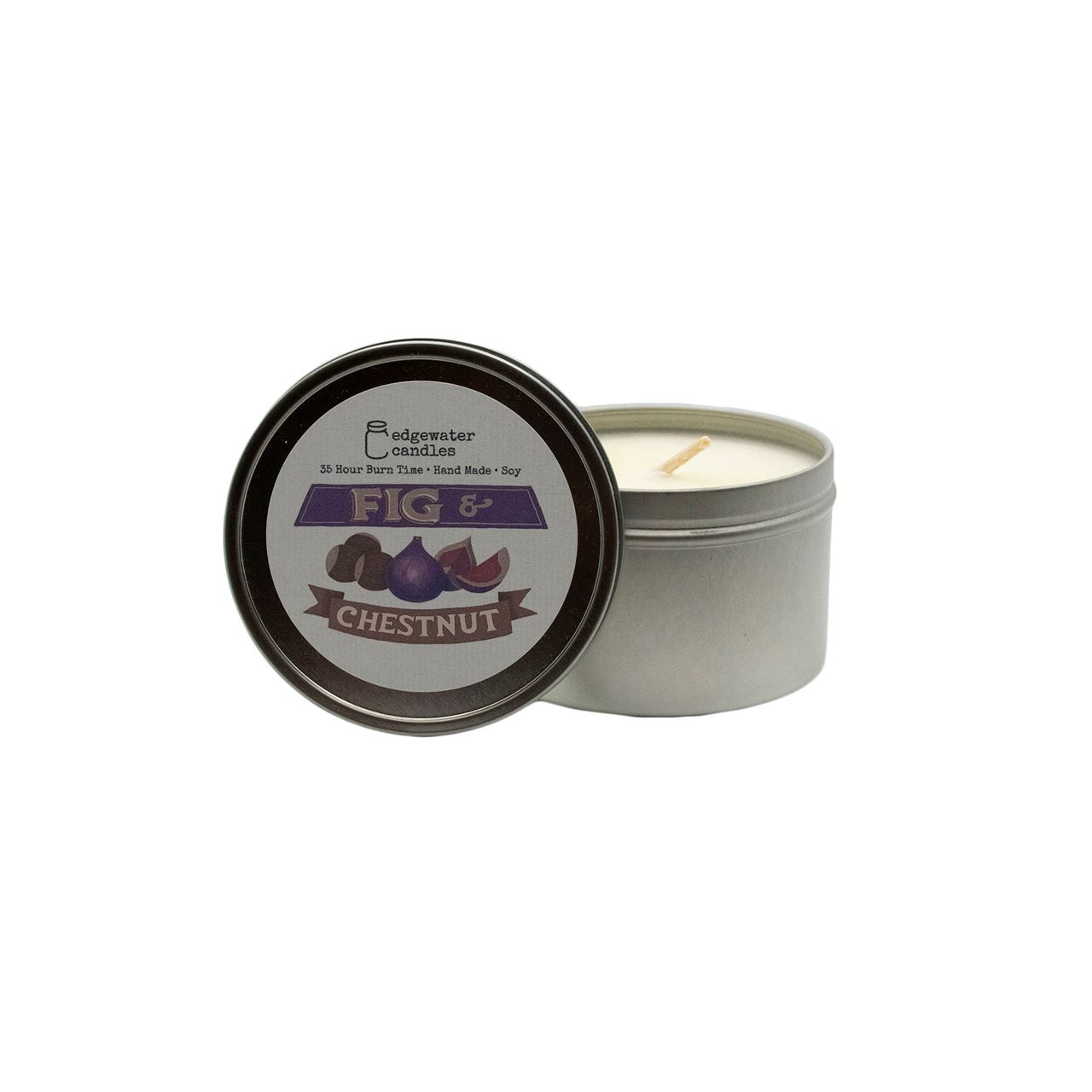 Fig and Chestnut Travel Tin by Edgewater Candles