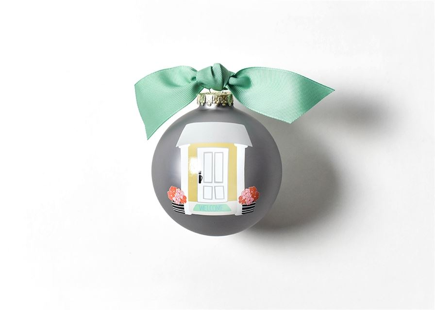 Home Sweet Home Glass Ornament by Coton Colors