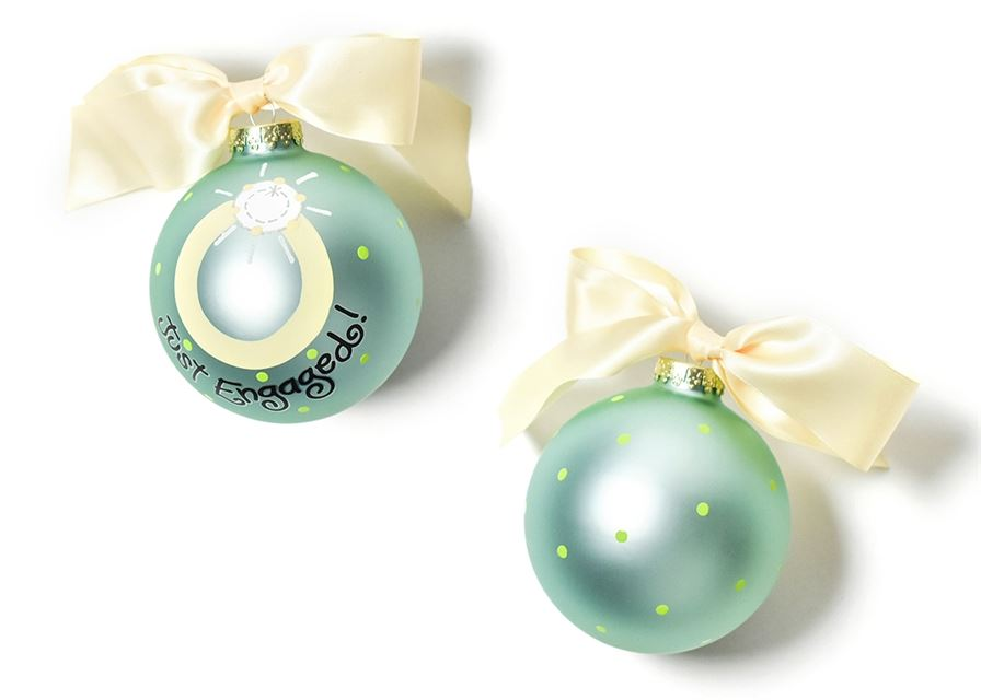 Just Engaged 2 Glass Ornament by Coton Colors