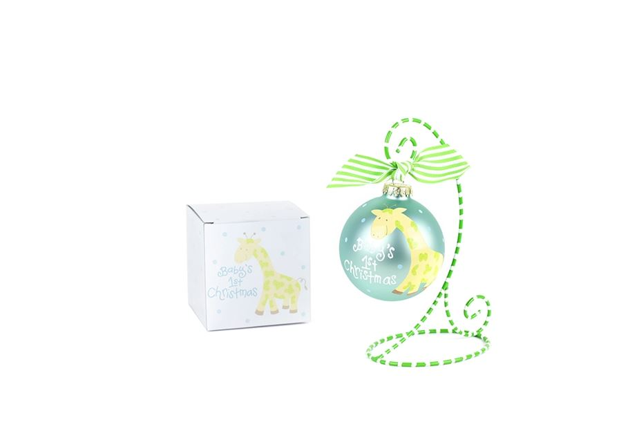 Giraffe Glass Ornament by Coton Colors