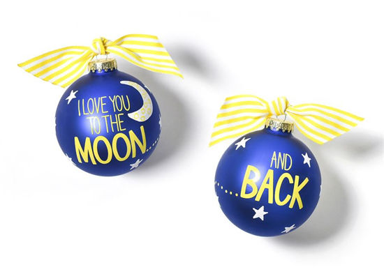 I Love You To The Moon And Back Glass Ornament by Coton Colors