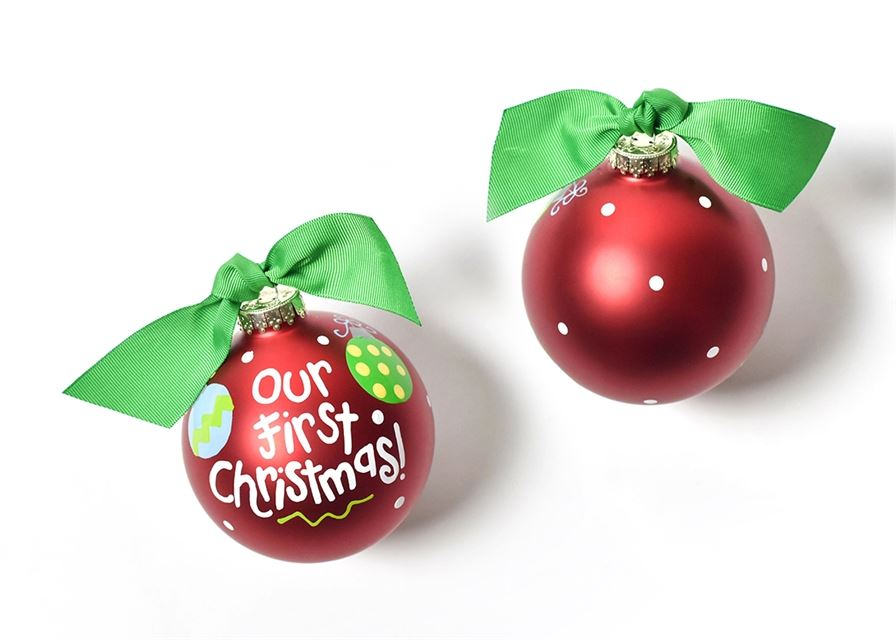 Our First Christmas Glass Ornament by Coton Colors