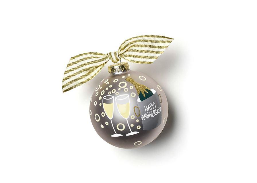 Happy Anniversary Glass Ornament by Coton Colors