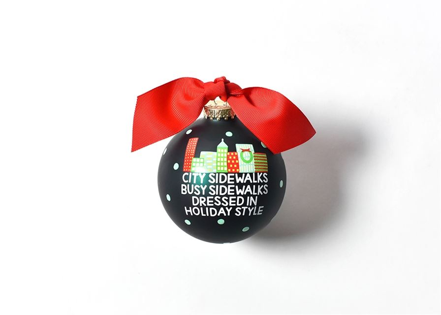 City Sidewalks Busy Sidewalks Glass Ornament by Coton Colors
