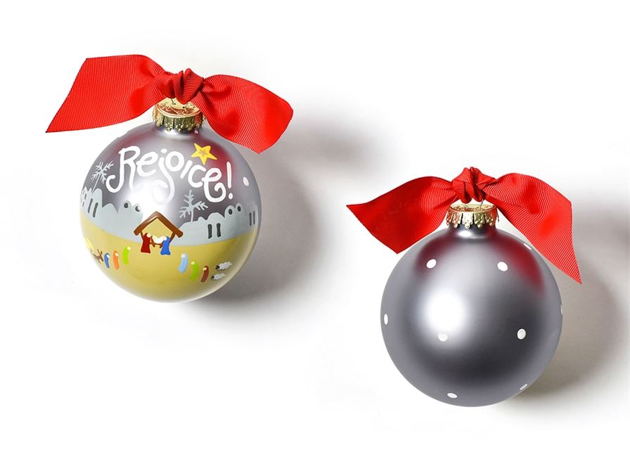 Rejoice Nativity Glass Ornament by Coton Colors