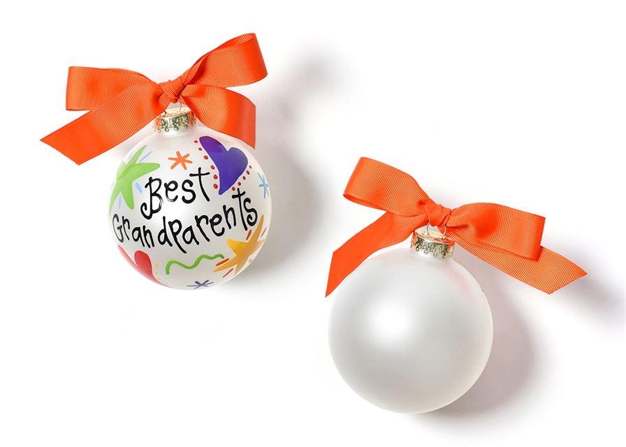 Best Grandparents Glass Ornament by Coton Colors