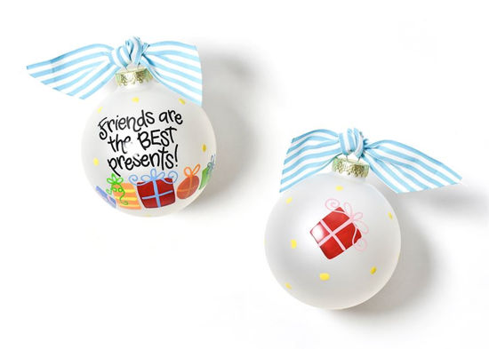 Friends are the Best Presents Glass Ornament by Coton Colors