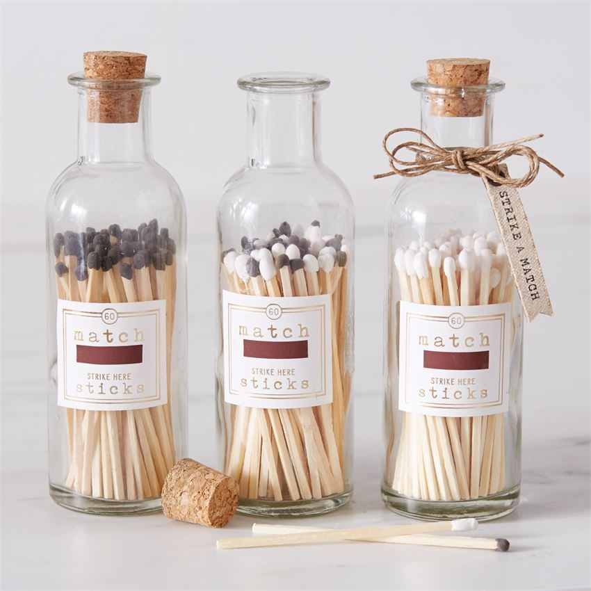 Large Match Stick Bottle by Mudpie