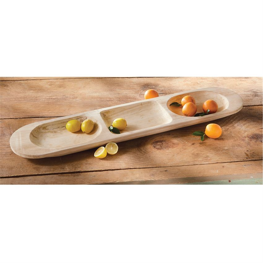 Paulownia Large Divided Tray by Mudpie