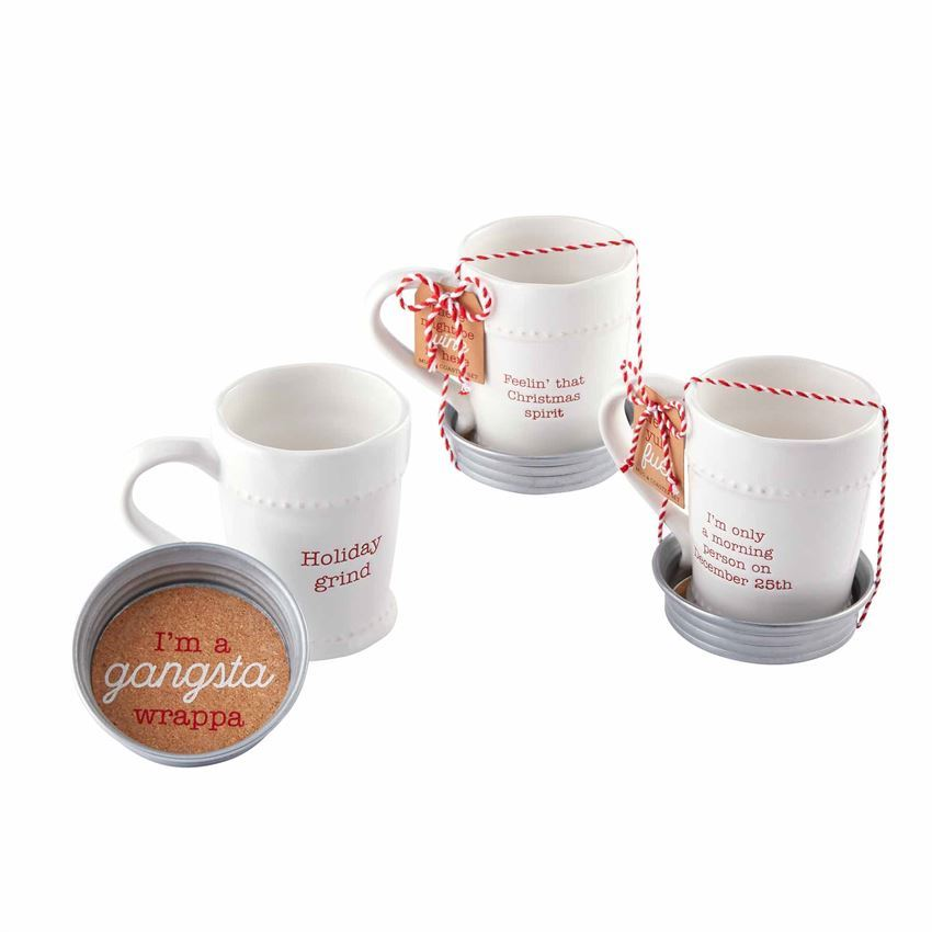 Christmas Circa Mug & Coaster Set by Mudpie