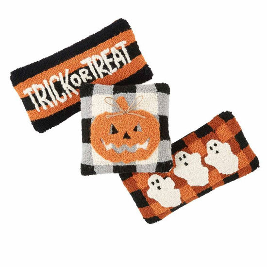 Halloween Mini Hooked Pillows (Assorted) by Mudpie