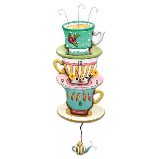 Spot of Tea Clock by Allen Designs Studio