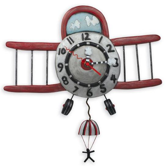 Airplane Jumper Clock by Allen Designs Studio